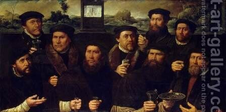 Group Portrait of the Amsterdam Shooting Corporation by Dirck Jacobsz - Reproduction Oil Painting