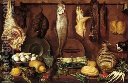 Kitchen Still-Life by (Jacopo Chimenti) Empoli - Reproduction Oil Painting