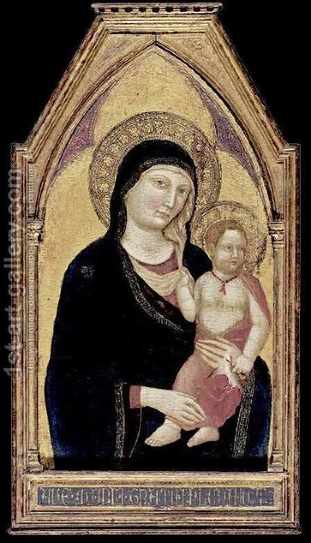Madonna and Child 2 by Jacopo Del Casentino - Reproduction Oil Painting