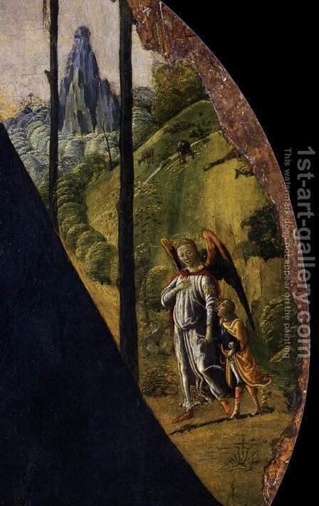 Virgin and Child (detail) by Jacopo Del Sellaio - Reproduction Oil Painting