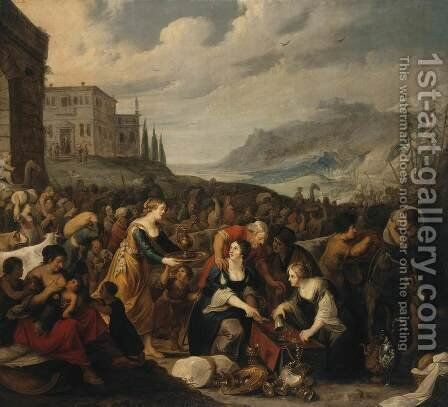 The Israelites after Crossing the Red Sea by Hans III Jordaens - Reproduction Oil Painting