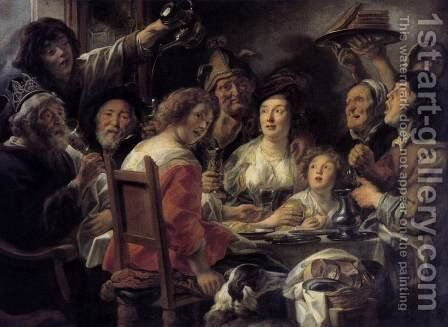 The King Drinks 2 by Jacob Jordaens - Reproduction Oil Painting