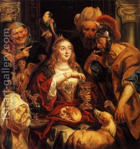 Cleopatra's Feast by Jacob Jordaens - Reproduction Oil Painting