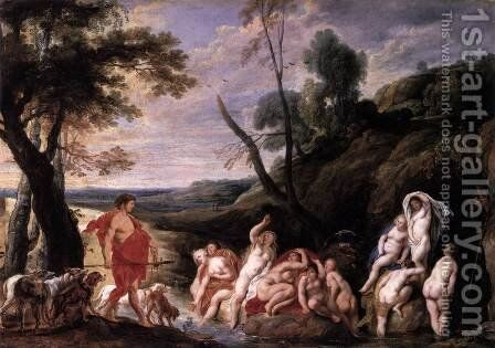Diana and Actaeon by Jacob Jordaens - Reproduction Oil Painting