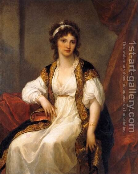 Portrait of a Young Woman by Angelica Kauffmann - Reproduction Oil Painting