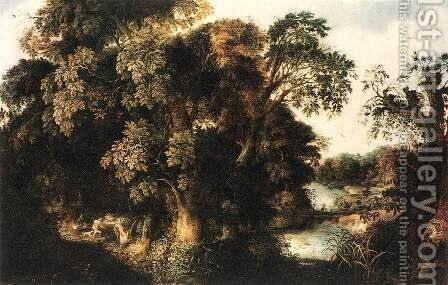 Forest Scene 2 by Alexander Keirinckx - Reproduction Oil Painting