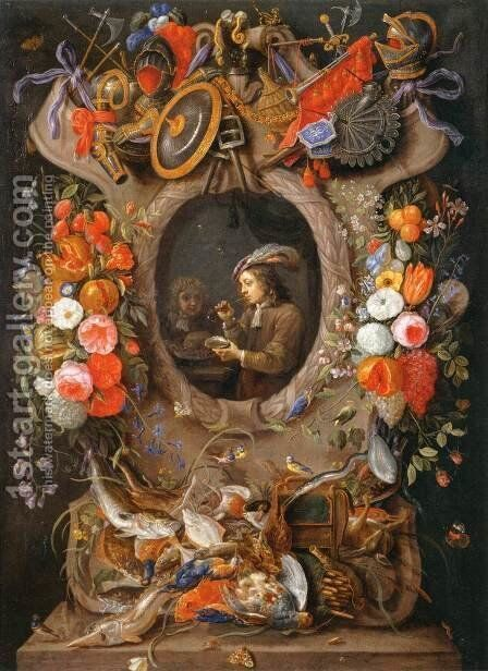 The Soap Bubbles by Jan van Kessel - Reproduction Oil Painting