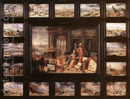 The Continent of Asia by Jan van Kessel - Reproduction Oil Painting