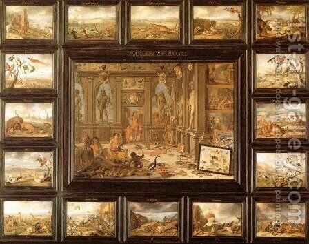 The Continent of America by Jan van Kessel - Reproduction Oil Painting