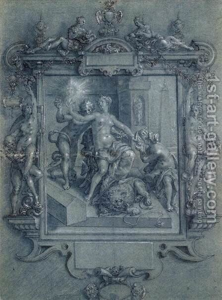 The Mirror of Virtue by Cornelis Ketel - Reproduction Oil Painting