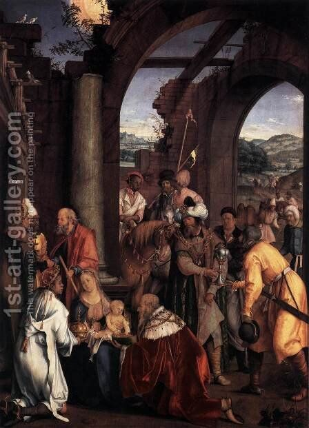 Adoration of the Magi by Hans Suss von Kulmbach - Reproduction Oil Painting