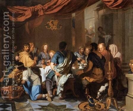 The Institution of the Eucharist by Gerard de Lairesse - Reproduction Oil Painting