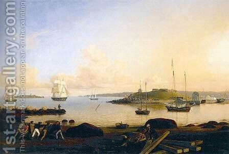 The Island and Fort of Ten Pound, Gloucester by Fitz Hugh Lane - Reproduction Oil Painting