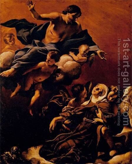 Ecstasy of St Margaret of Cortona by Giovanni Lanfranco - Reproduction Oil Painting
