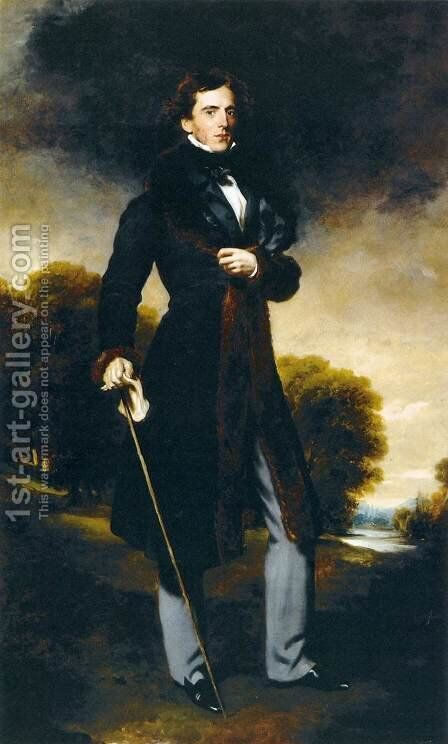 Portrait of David Lyon by Sir Thomas Lawrence - Reproduction Oil Painting