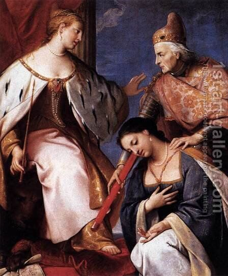 Doge Morosini Offers the Reconquered Morea to Venice by Gregorio Lazzarini - Reproduction Oil Painting