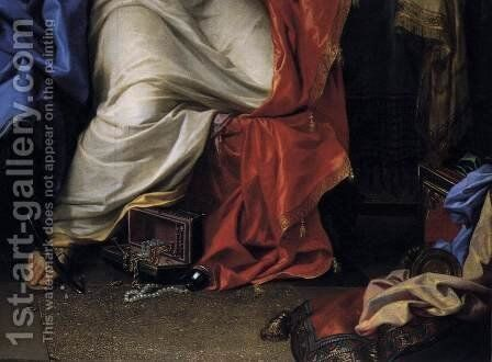 The Repentant Magdalen (detail) 2 by Charles Le Brun - Reproduction Oil Painting