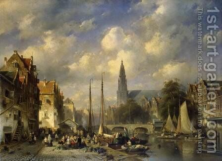 Urban Landscape by Charles Henri Joseph Leickert - Reproduction Oil Painting