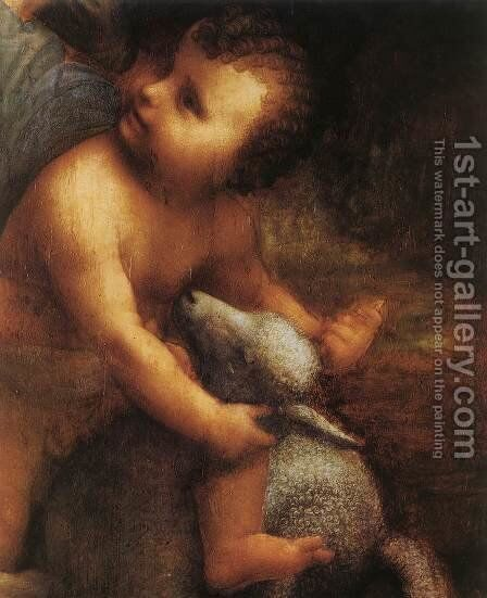 The Virgin and Child with St Anne (detail) 5 by Leonardo Da Vinci - Reproduction Oil Painting