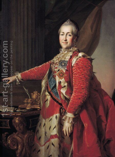 Portrait of Catherine II by Dmitry Levitsky - Reproduction Oil Painting