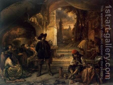 Guardroom by Baron Jan August Hendrik Leys - Reproduction Oil Painting