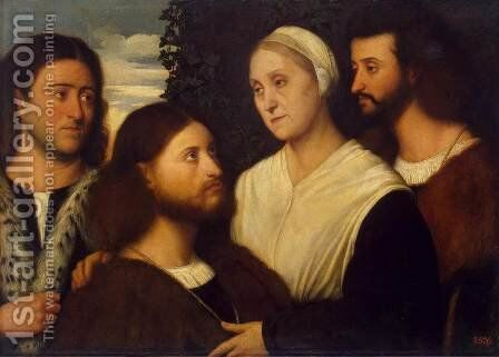 Family Portrait by Bernardino Licinio - Reproduction Oil Painting