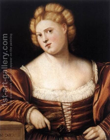 Portrait of a Woman 2 by Bernardino Licinio - Reproduction Oil Painting