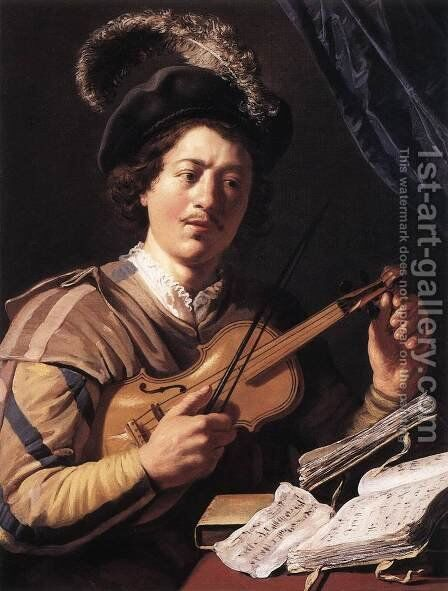 The Violin Player 2 by Jan Lievens - Reproduction Oil Painting