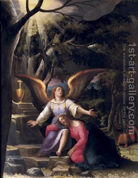 Agony in the Garden by Jacopo Ligozzi - Reproduction Oil Painting