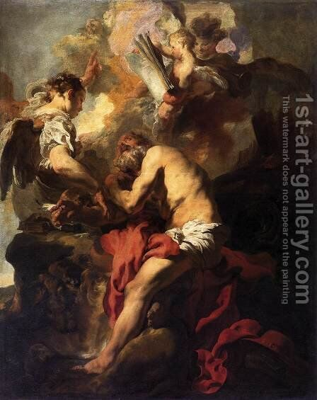 The Vision of St Jerome by Johann Liss - Reproduction Oil Painting