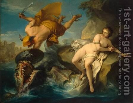 Perseus and Andromeda by Carle van Loo - Reproduction Oil Painting