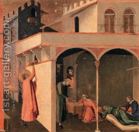 Scenes of the Life of St Nicholas 3 by Ambrogio Lorenzetti - Reproduction Oil Painting