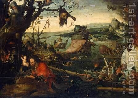 Landscape with the Legend of St Christopher by Jan Mandijn - Reproduction Oil Painting