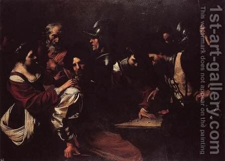 The Denial of St Peter by Bartolomeo Manfredi - Reproduction Oil Painting