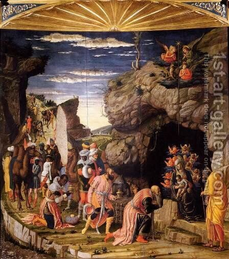 The Adoration of the Magi by Andrea Mantegna - Reproduction Oil Painting