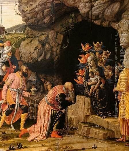 The Adoration of the Magi (detail) by Andrea Mantegna - Reproduction Oil Painting