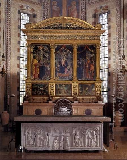 The San Zeno Polyptych by Andrea Mantegna - Reproduction Oil Painting