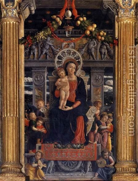 San Zeno Polyptych (central panel) by Andrea Mantegna - Reproduction Oil Painting
