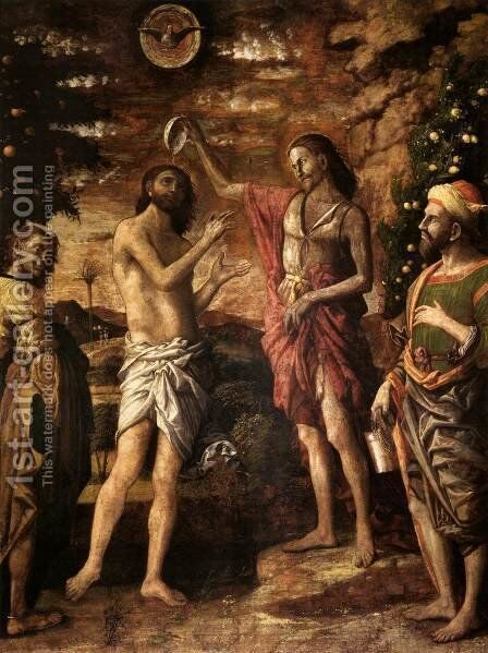 Baptism of Christ by Andrea Mantegna - Reproduction Oil Painting