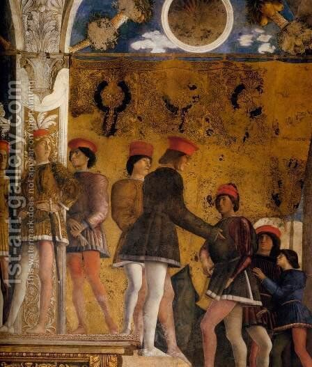 The Court of Gonzaga (detail) 2 by Andrea Mantegna - Reproduction Oil Painting
