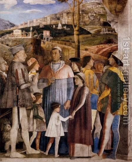 The Meeting (detail) by Andrea Mantegna - Reproduction Oil Painting