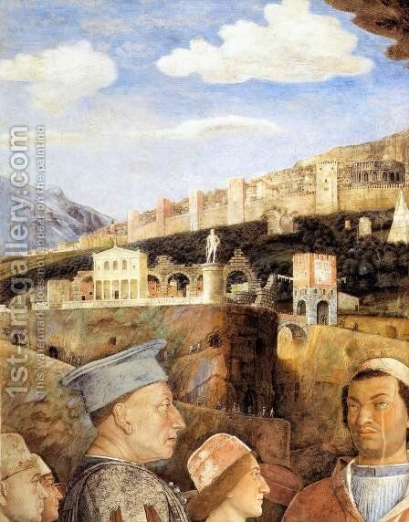 The Meeting (detail) 3 by Andrea Mantegna - Reproduction Oil Painting
