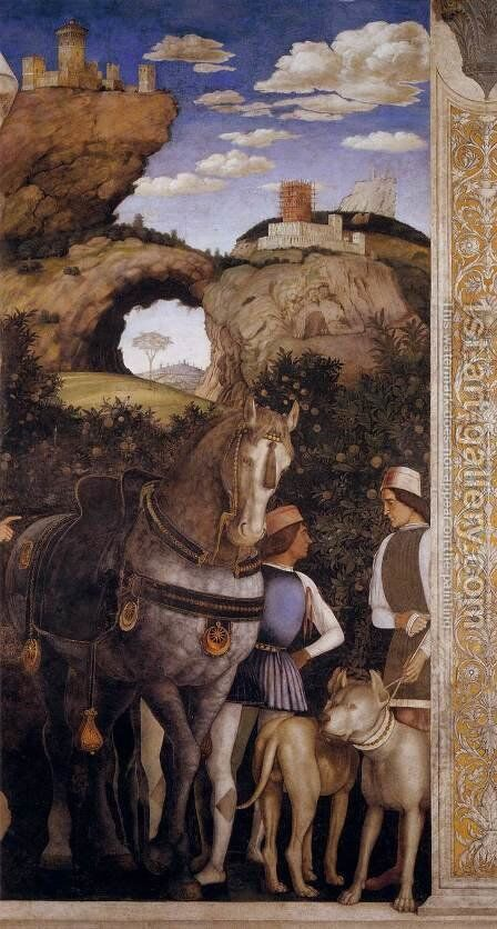 Suite of Cardinal Francesco by Andrea Mantegna - Reproduction Oil Painting