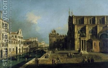 View of Campo SS. Giovanni e Paolo, Venice by Michele Marieschi - Reproduction Oil Painting
