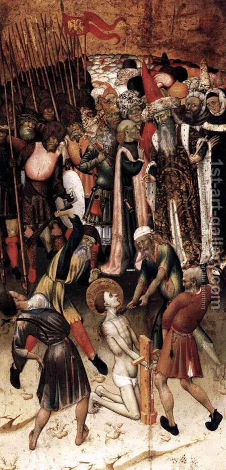 The Flagellation of St George by Bernat (Bernardo) Martorell - Reproduction Oil Painting