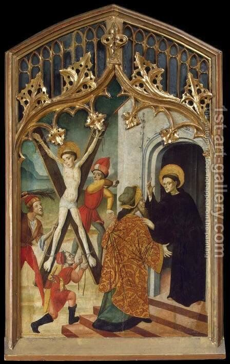 St Vincent the Martyr and St Vincent Ferrer by Bernat (Bernardo) Martorell - Reproduction Oil Painting