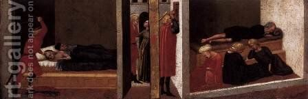 Predella panel from the Pisa Altar 2 by Masaccio (Tommaso di Giovanni) - Reproduction Oil Painting