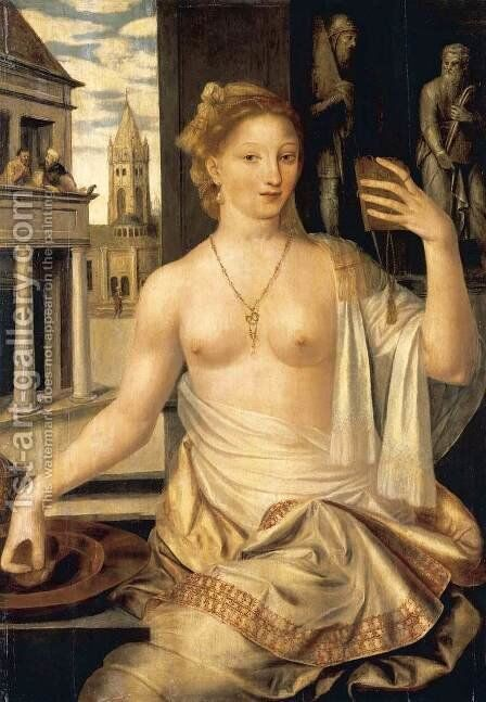 Bathsheba Observed by King David 2 by Jan Massys - Reproduction Oil Painting