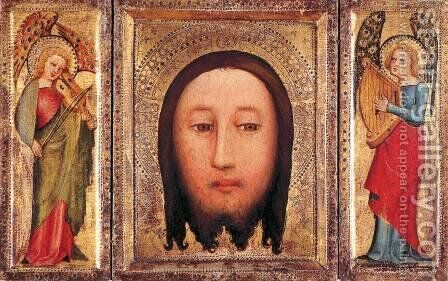 Triptych The Holy Visage of Christ by (Master of Minden) Bertram - Reproduction Oil Painting