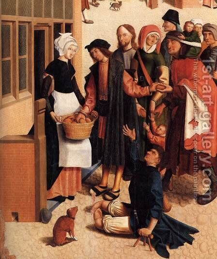 The Seven Works of Mercy (detail) by Master of Alkmaar - Reproduction Oil Painting